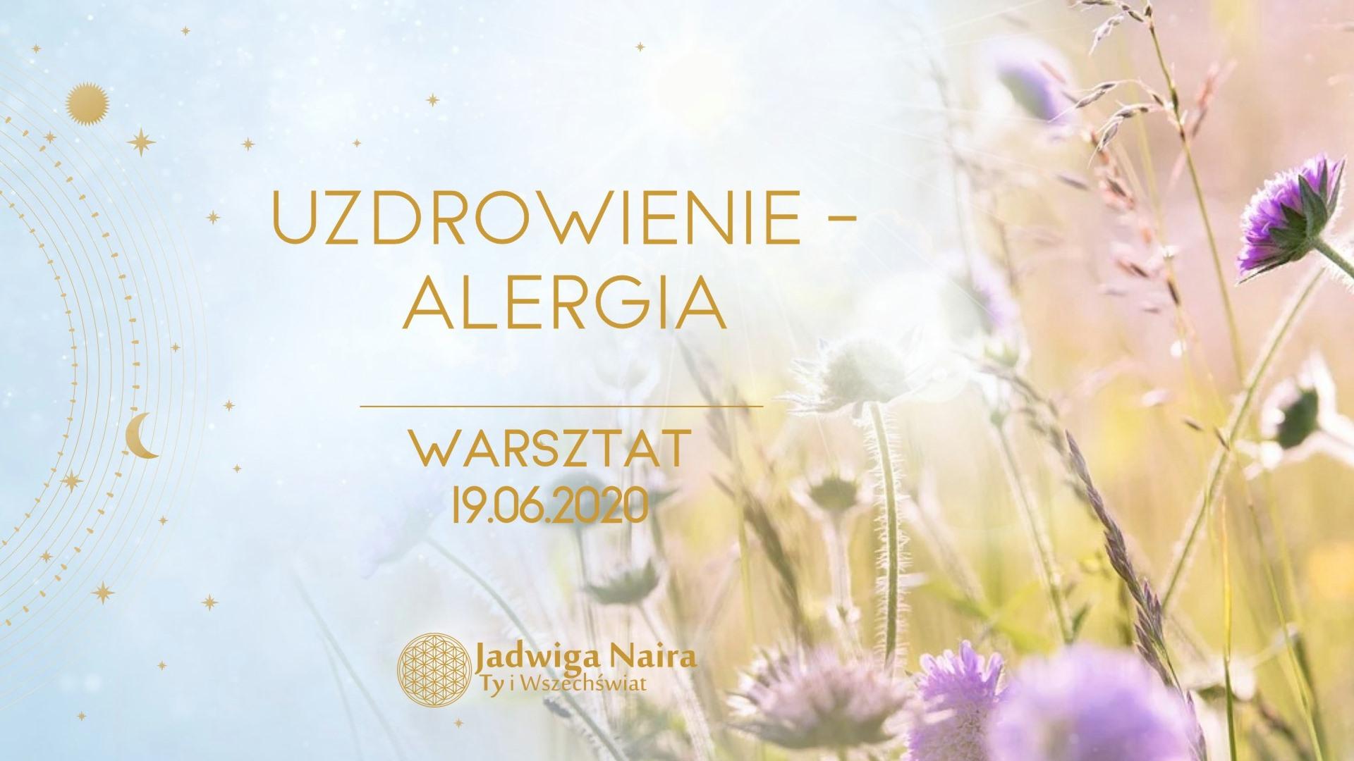 Warsztat Uzdrowienie/Alergia - Online